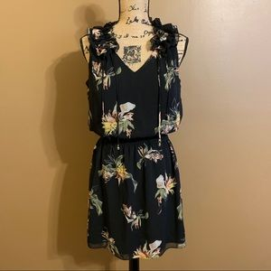 WHBM Floral Ruffle Dress